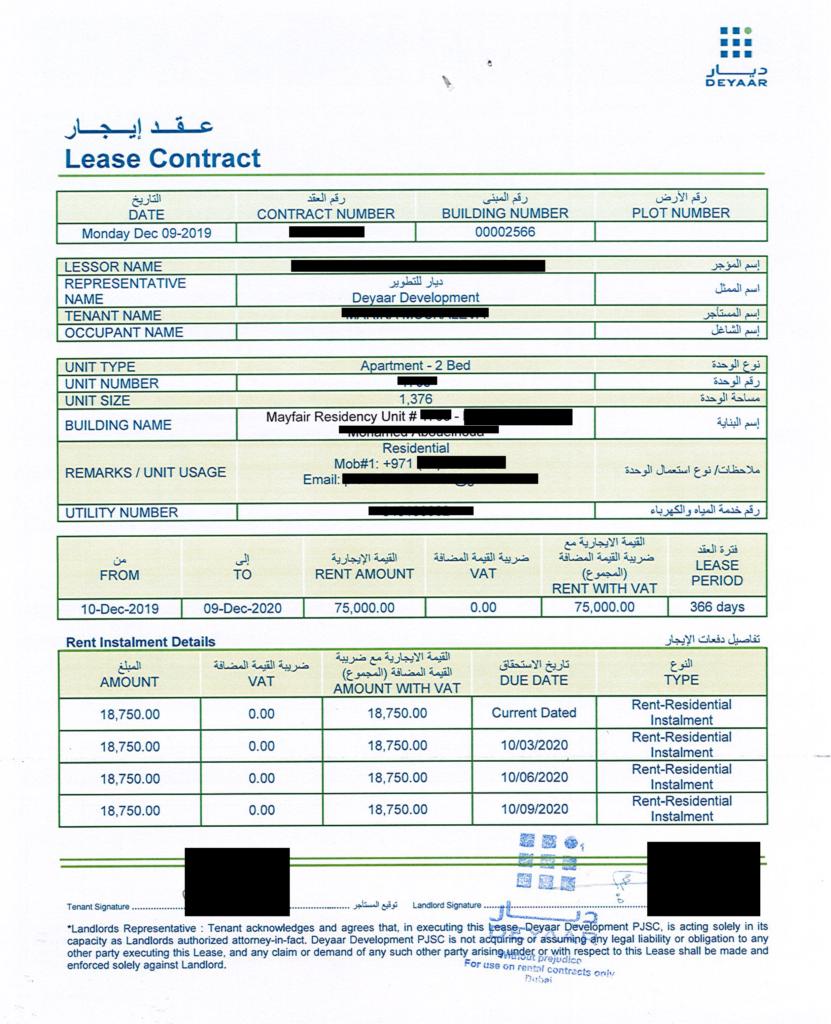 tenancy contract Mayfair 1 1