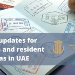 updates for tourism and resident visas in UAE